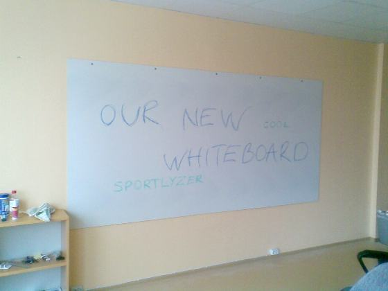 Coplast whiteboard.