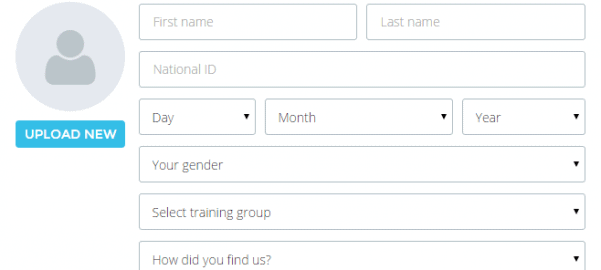 Membership registration widget