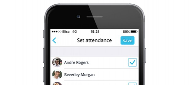 Mark attendance from your iPhone