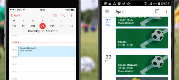 Integrated Calendar View on Phone