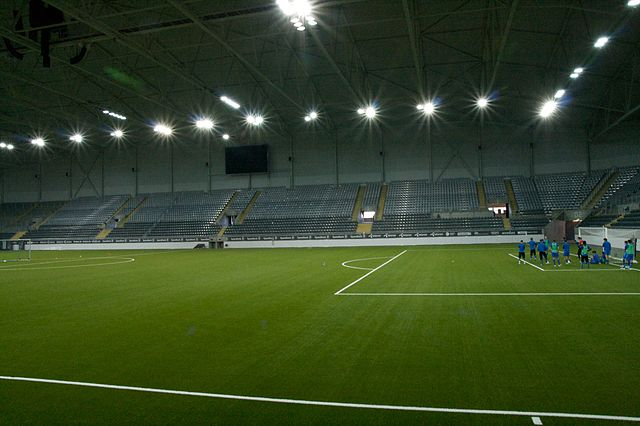 A full-size indoor pitch