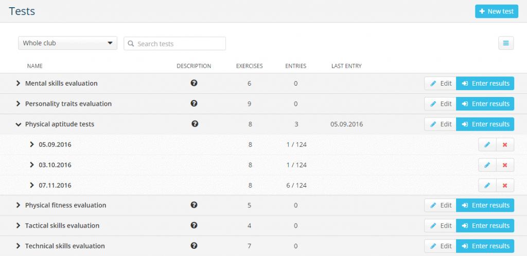 Player progress evaluation platform - Sportlyzer