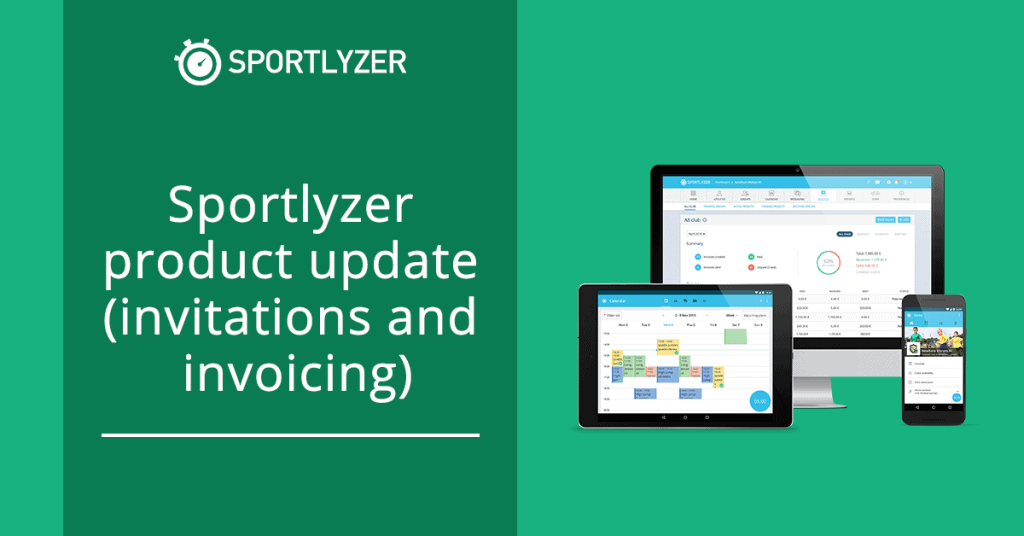 Sportlyzer product update - invitations and invoicing