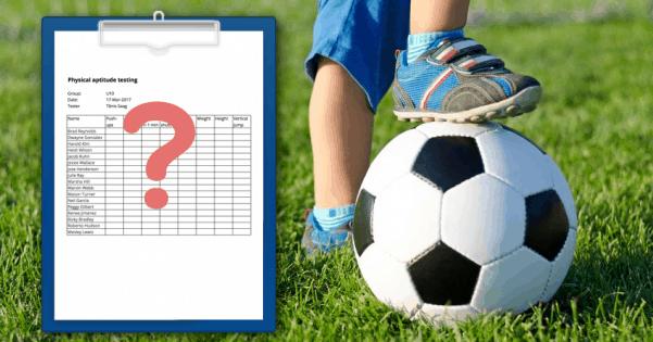 Player evaluation and testing kids by Sportlyzer.com