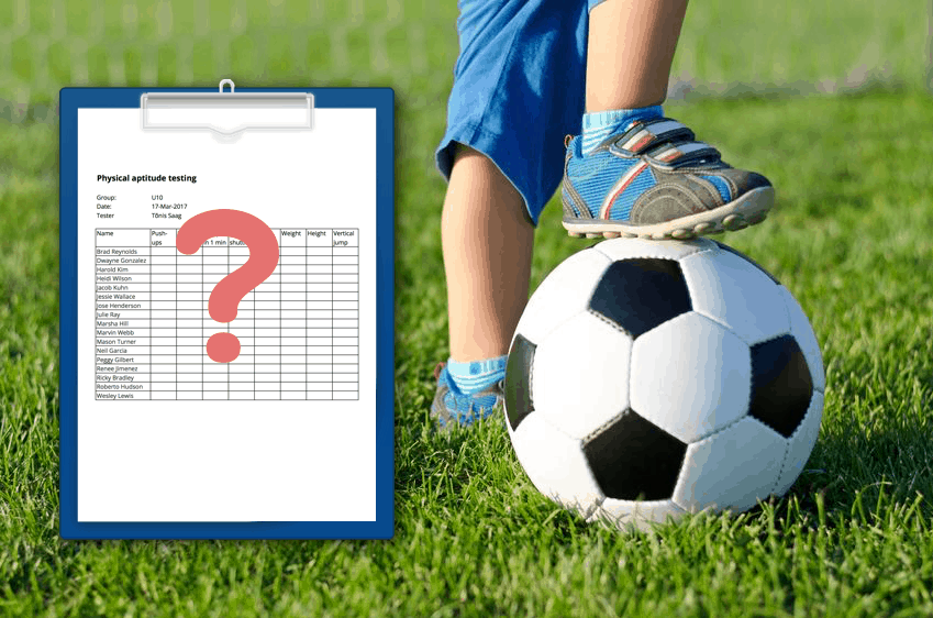 Player evaluation and testing kids by Sportlyzer.com