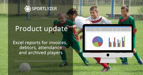 Excel reports for invoices, debtors, attendance and archived players
