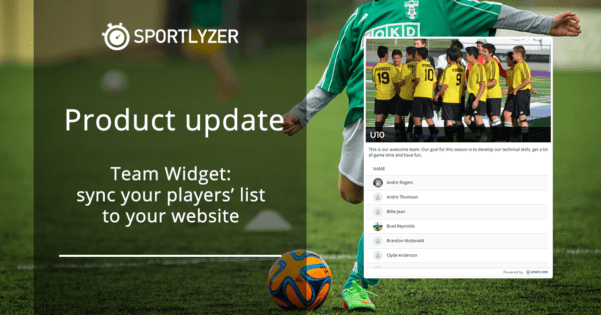 Team widget – sync your players list to your website