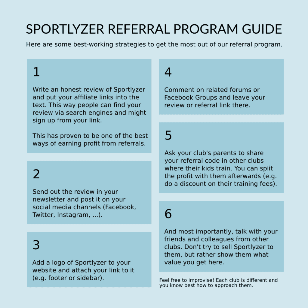 Sportlyzer referral program guide