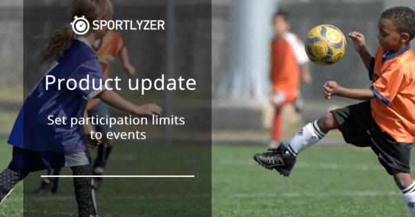 Set participation limits to events